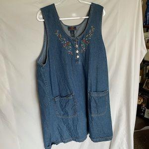 Embroidered denim jumper